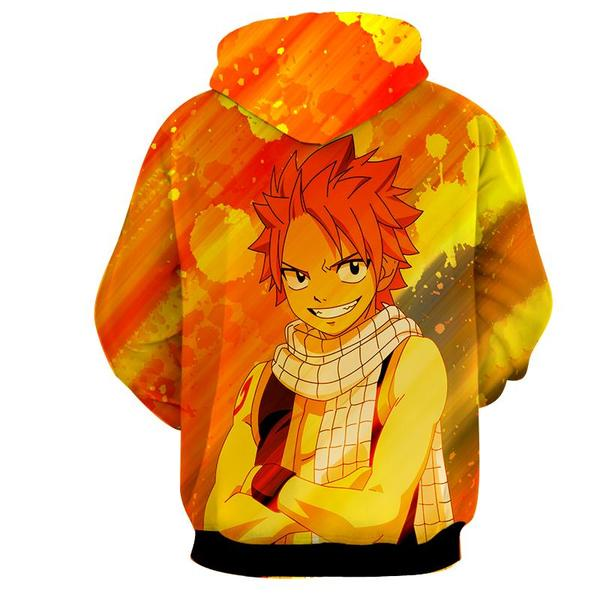 Natsu Yellow Designer 3D Printed Dragneel Fairy Tail Hoodie - Anime Wise