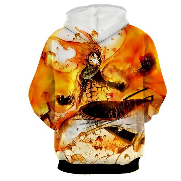 Natsu Fired Up Dragneel Fairy Tail 3D Printed Hoodie - Anime Wise