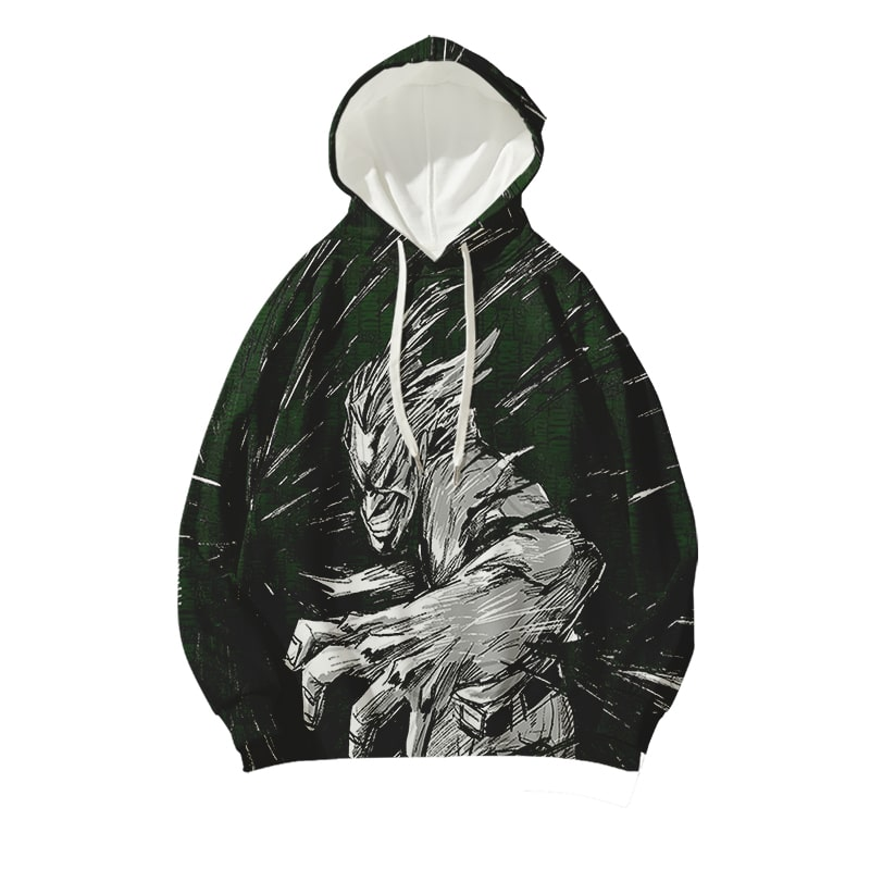 One For All Mighty Punch Granite My Hero Academia Toshinori Yagi Hoodie