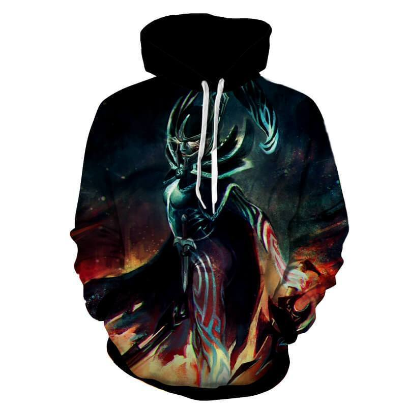 Phantom Assassin art 3D Printed Phantom Assassin Hoodie