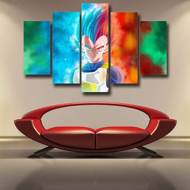 Prince Vegeta 3D Printed Anime Canvas - Anime Wise