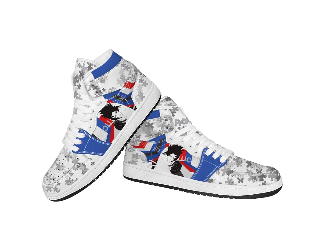 Sasuke Uchiha The Sharingan Prince Stars Embossed Naruto Shoes