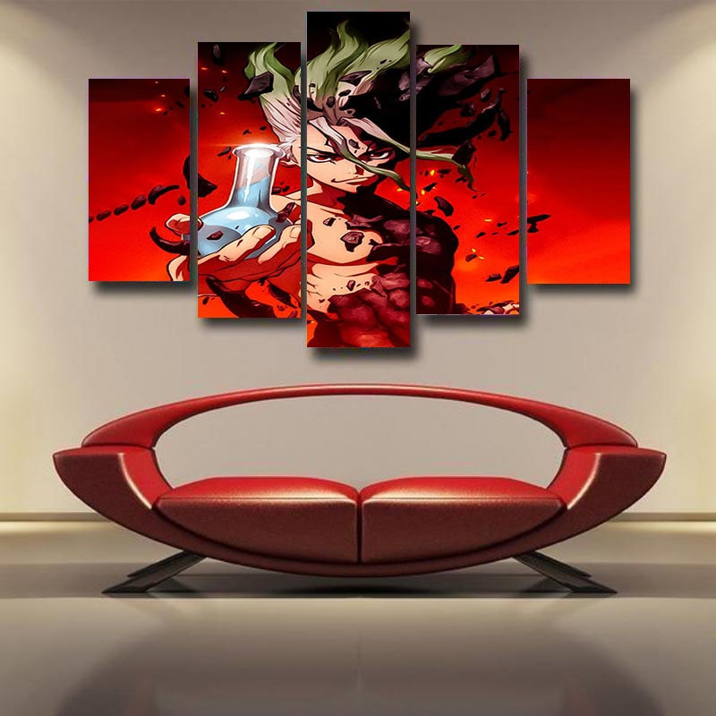 Senku Ishigami Classic Red Dr.Stone Home Dynamic 3D Canvas