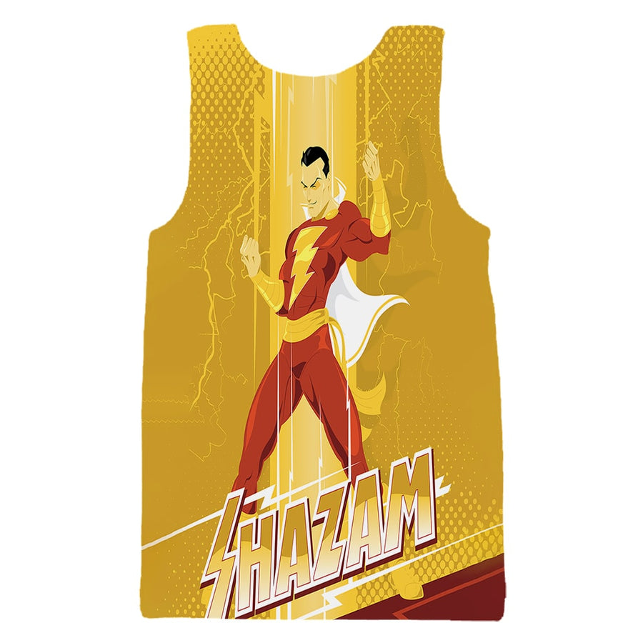Shazam Gold Power Style Glow Style Tank Top