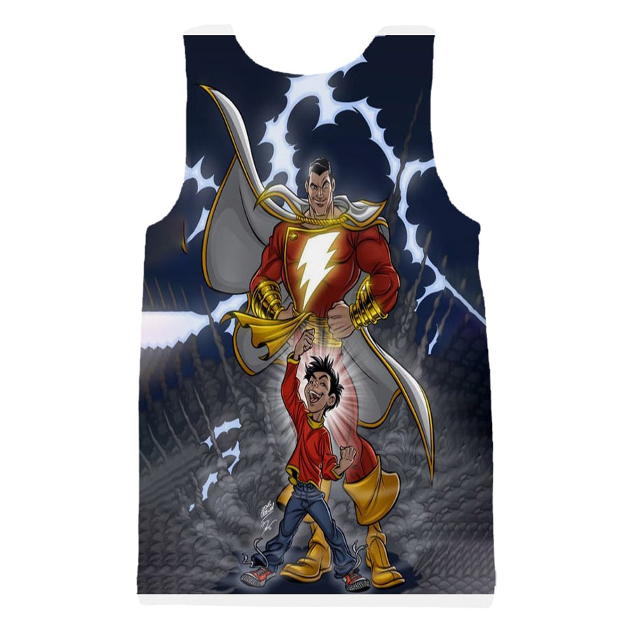 Shazam Lightning Blue Power Style Tank Top