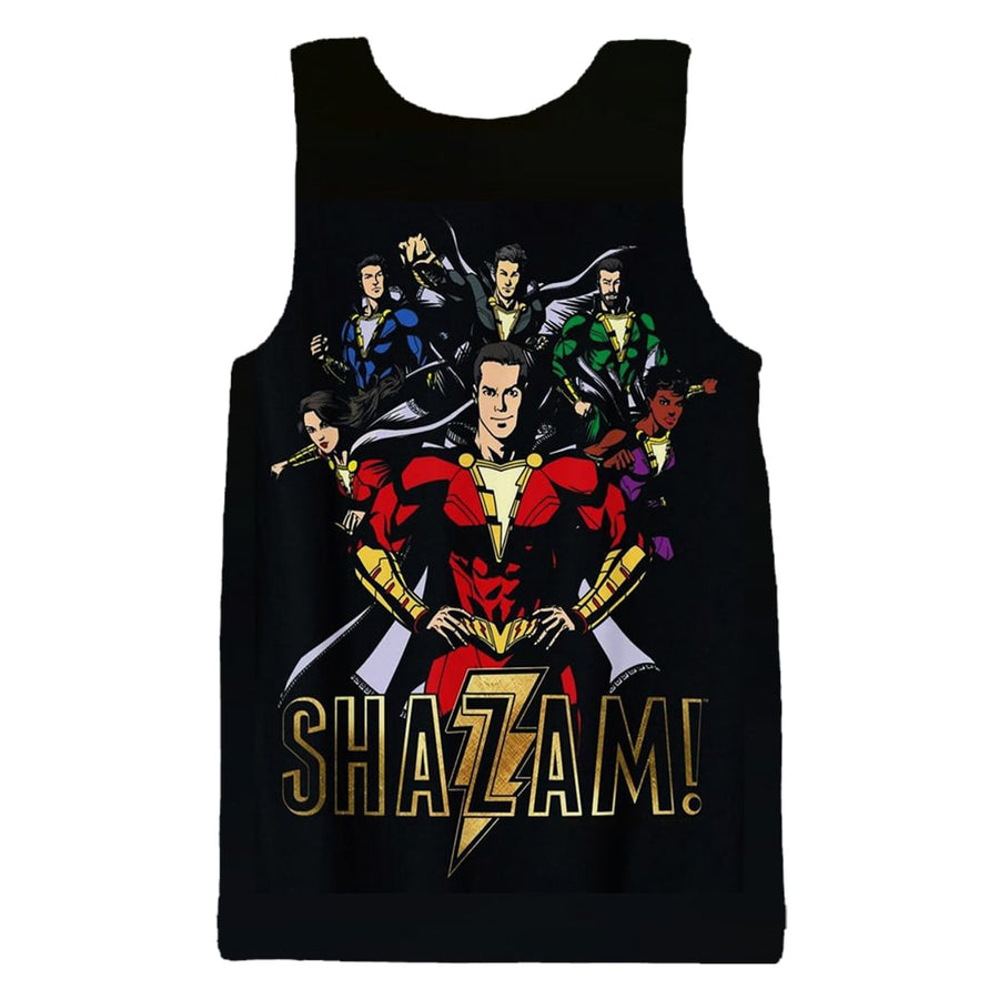Shazam The Power Team Sleek Style Tank Top