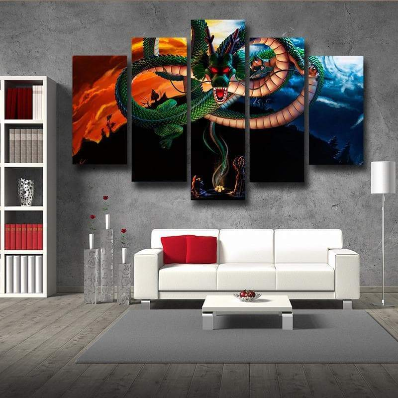 Shenron beautiful 3D Printed Anime Canvas - Anime Wise