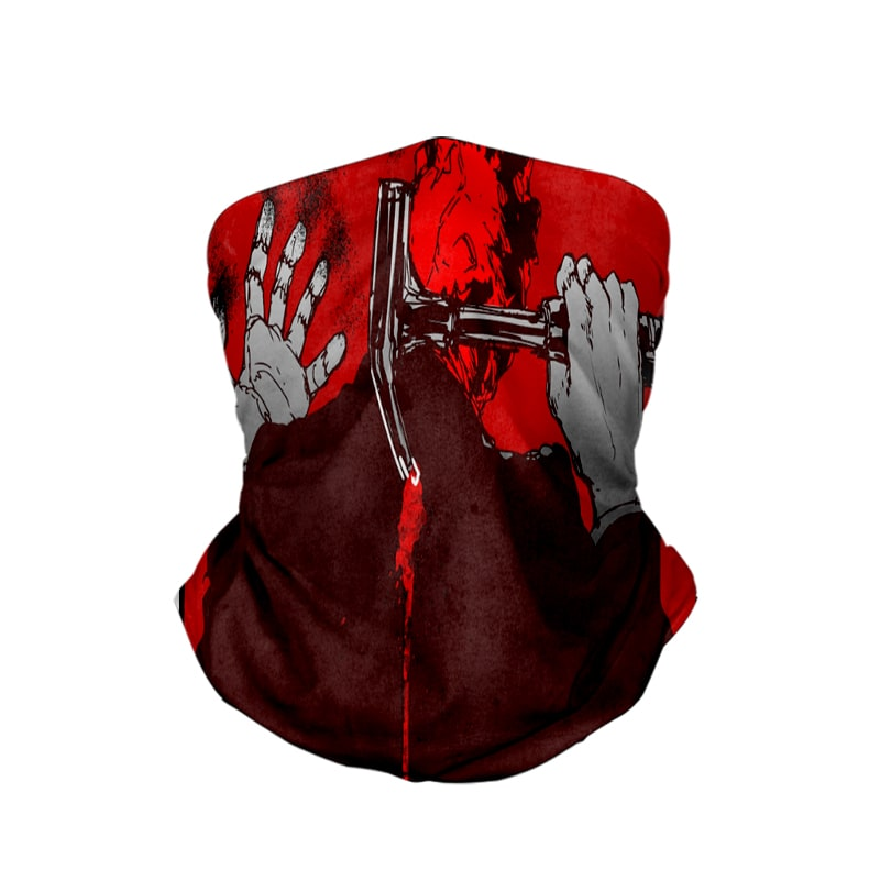 Shin Red Hammer Dorohedoro Neck Gaiter Face Shield Bandanna Scarf