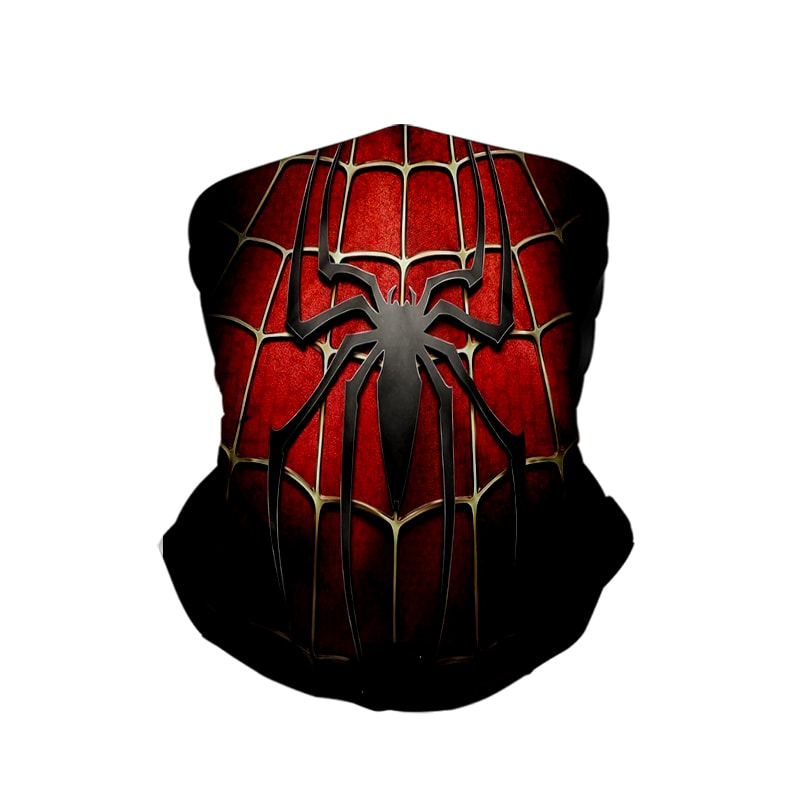 Spiderman Classic Red Web Style Neck Gaiter Face Shield Bandanna Scarf