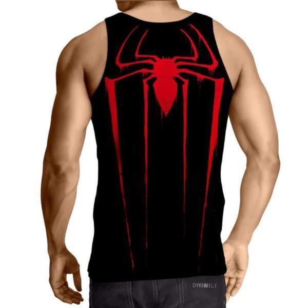Spiderman 3D Printed Crisp Spiderman Tank Top - Anime Wise