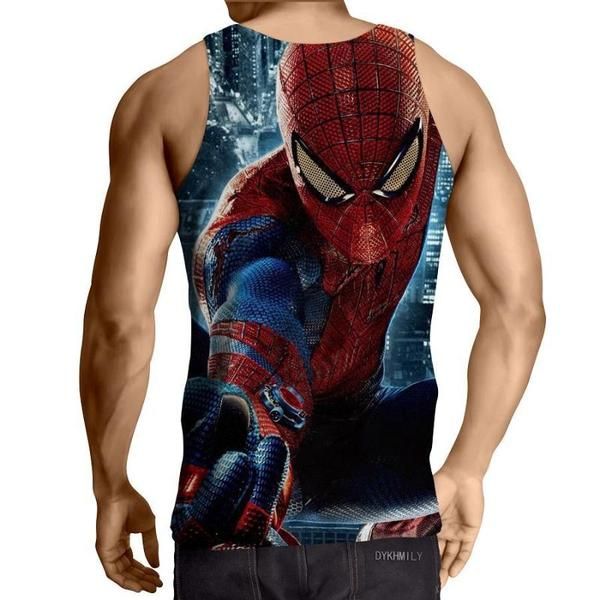 Spiderman 3D Printed InAction Spiderman Tank Top - Anime Wise