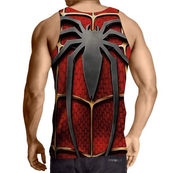 Spiderman 3D Printed Magnified Spiderman Tank Top - Anime Wise