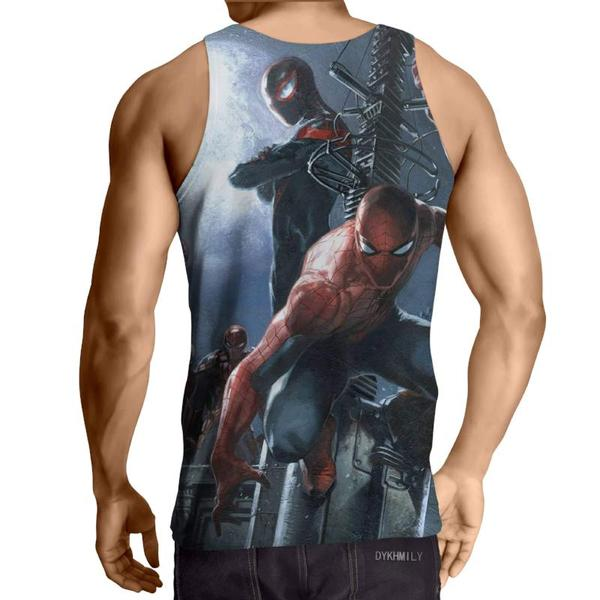 Spiderman 3D Printed SplitDouble Spiderman Tank Top - Anime Wise