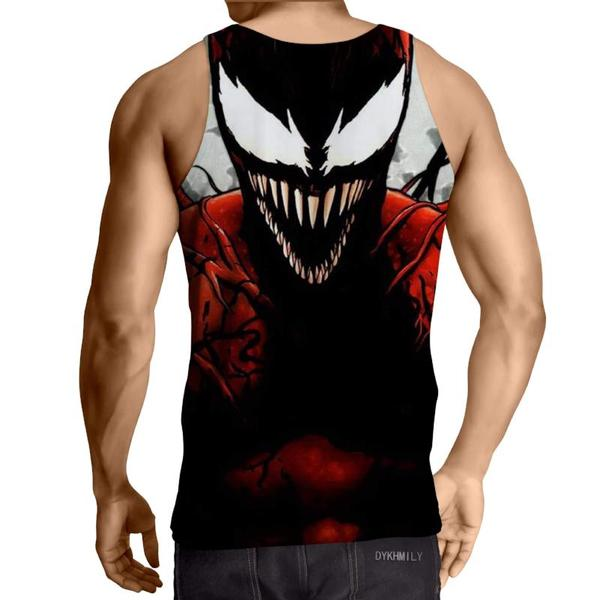 Spiderman 3D Printed Venom Spiderman Tank Top - Anime Wise