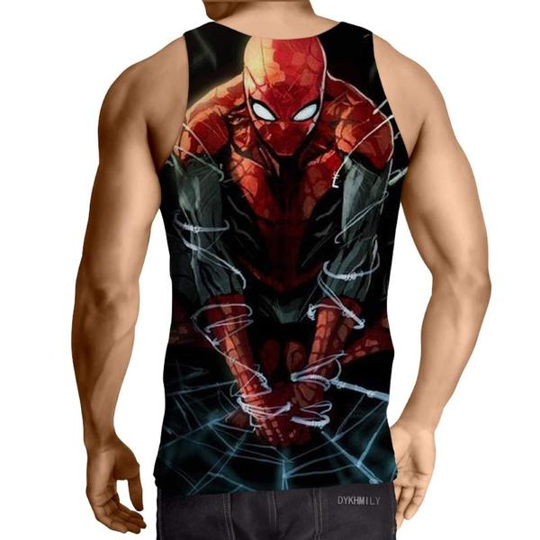Spiderman 3D Printed Webbed Up Spiderman Tank Top - Anime Wise