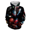 Spiderman Black Shine 3D Printed Spiderman Hoodie