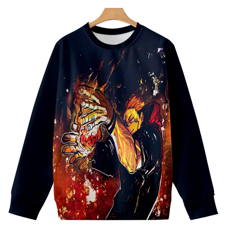 Sukuna The Cuse King All Over Brushed Jujutsu Kaisen Sweatshirt