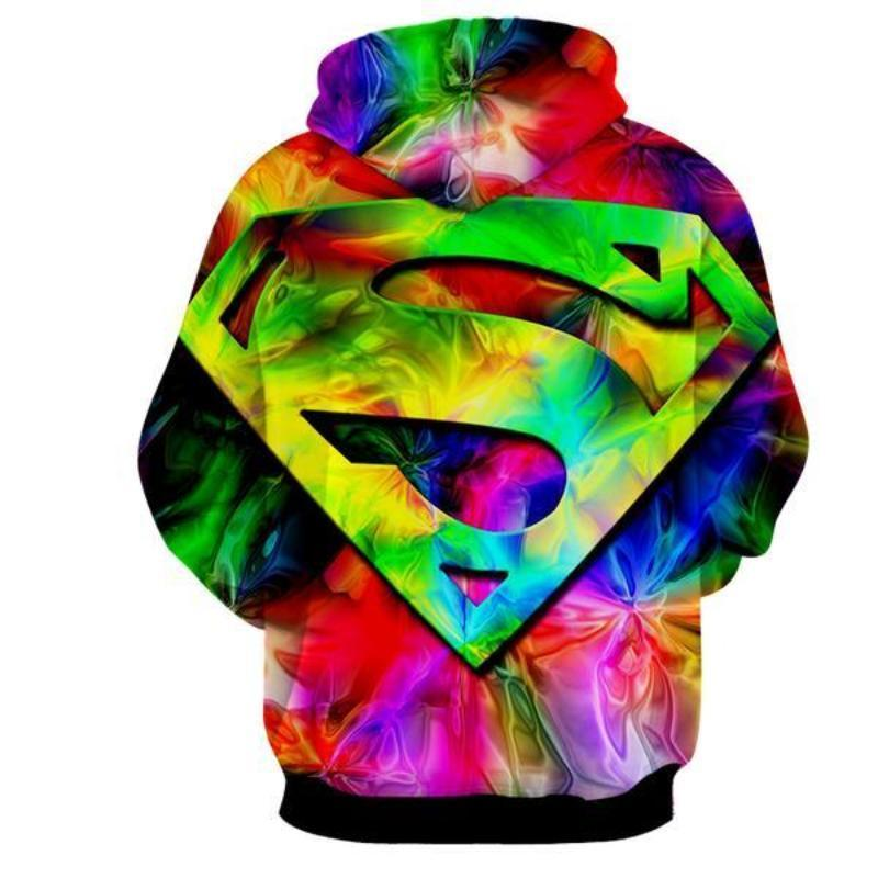 Superman Rainbow 3D Printed Superman Hoodie
