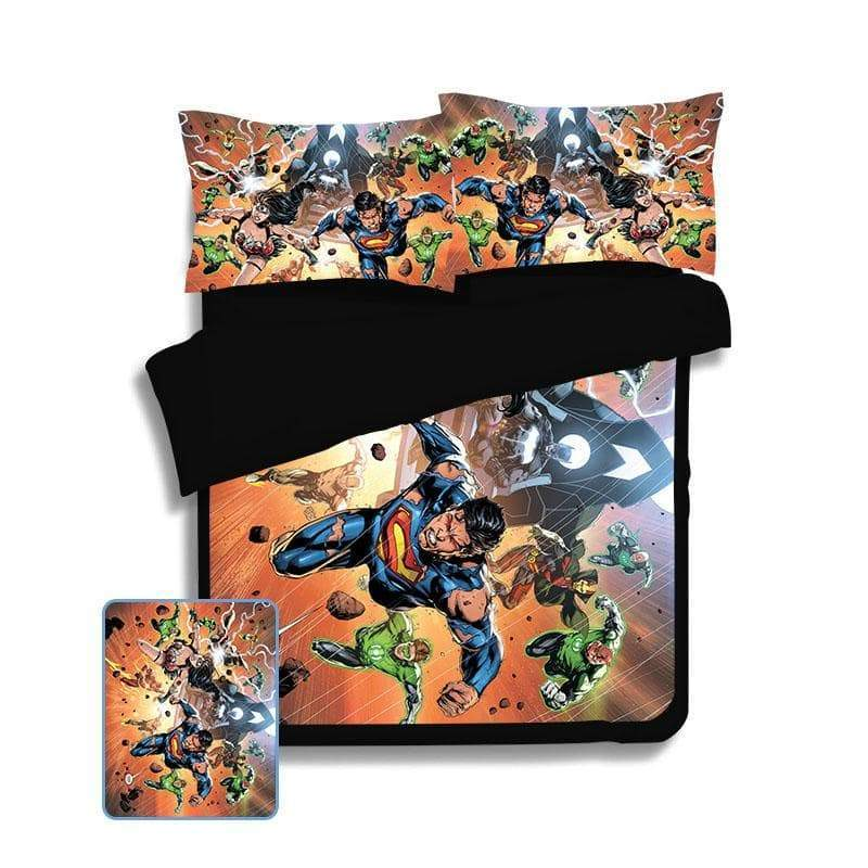 Superman & Wonder Woman Dream Space Soft Blend Bed Cover & Sheets