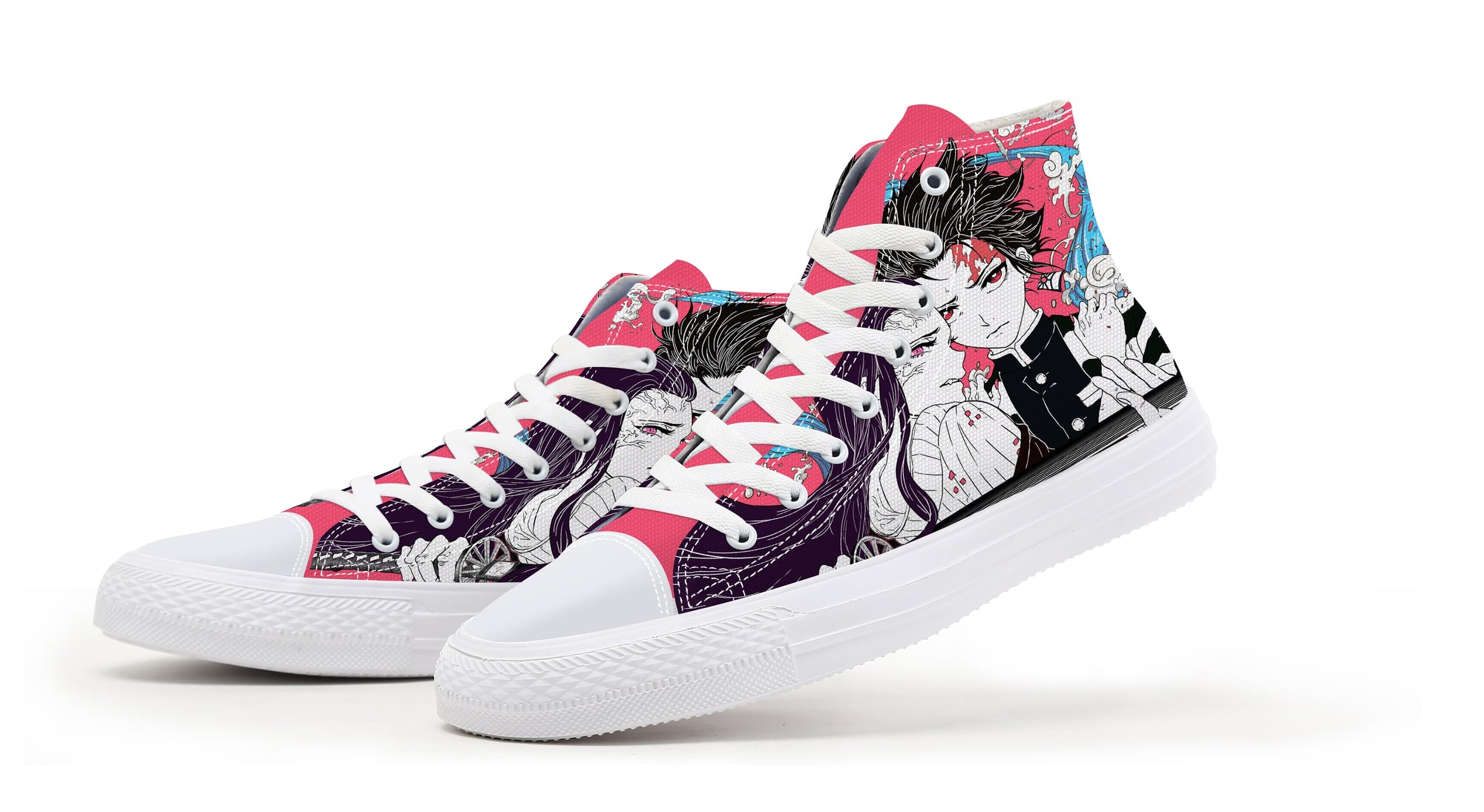 Tanjiro Nezuko Kamado Demon Duo Sneakers Demon Slayer Kimetsu No Yaiba Shoes
