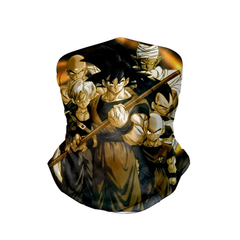 Team Goku Ready To Fight Dragon Ball Neck Gaiter Face Shield Bandanna Scarf