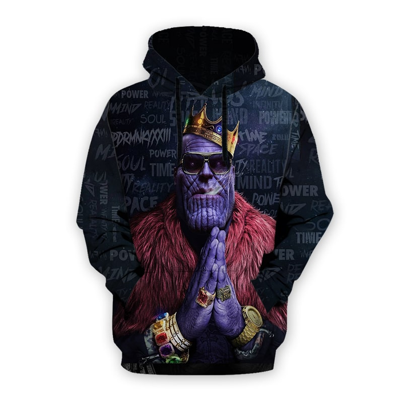 King Thanos Rap Style Hip Hop Thanos Infinity War Thanos Hoodie