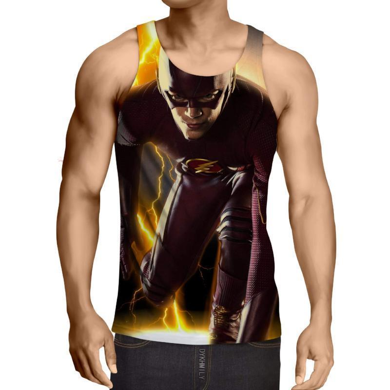 Black Yellow The Flash 3D Printed Tank Top - Anime Wise