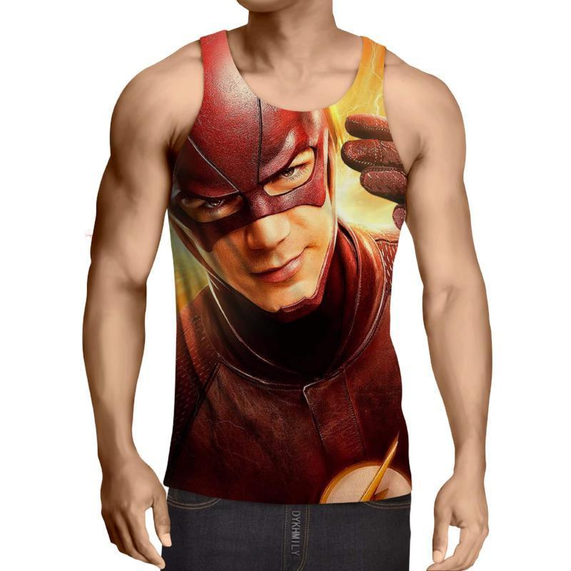 The Flash 3D Printed Tank Top - Anime Wise