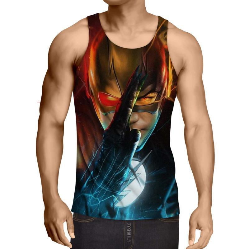 Red Blue The Flash 3D Printed Tank Top - Anime Wise
