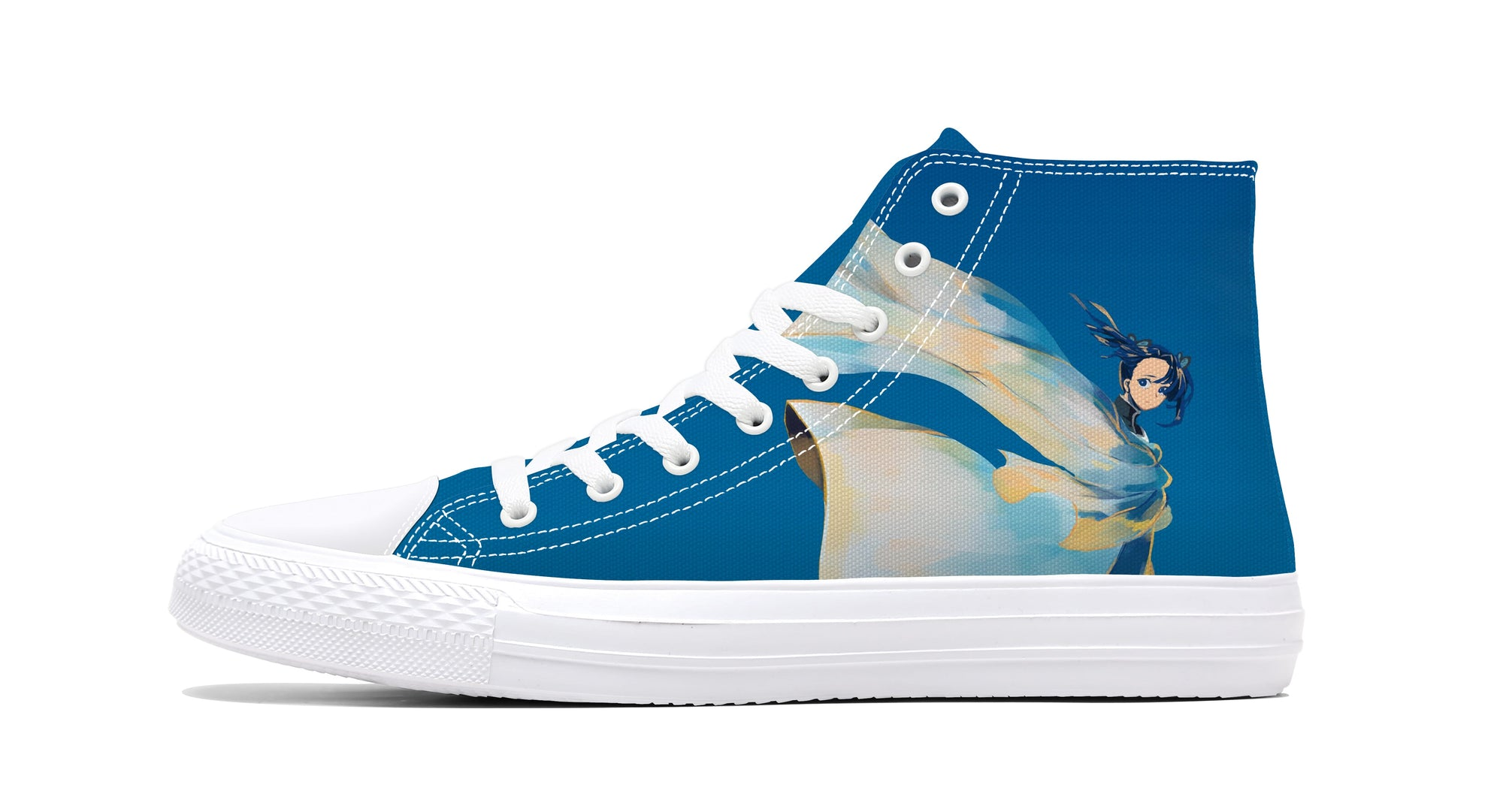 Tsuguko Kanao Blue Sky Painting Sneakers Demon Sneaker Demon Slayer Kimetsu No Yaiba Shoes