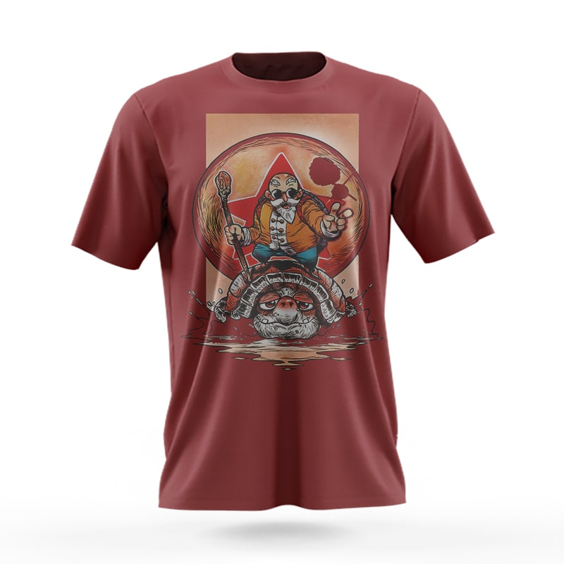 Turtle Hermit Master Roshi Cool Travel T-Shirt