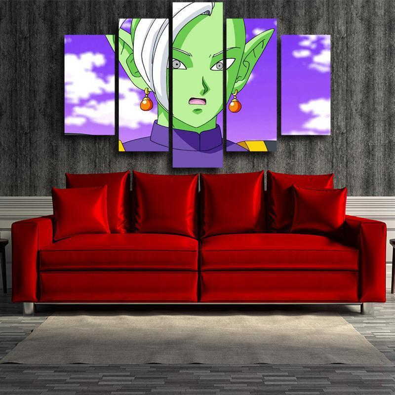 Zamasu 3D Printed Anime Canvas - Anime Wise