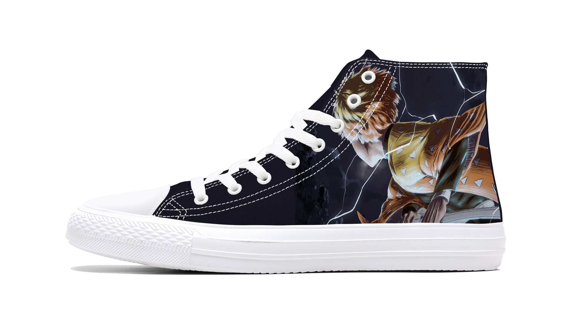 Zenitsu Agatsuma Lightning Breathing Sneakers Demon Sneaker Demon Slayer Kimetsu No Yaiba Shoes