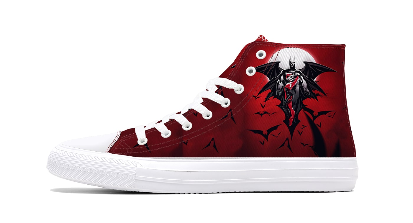 Harley Quinn batman Gotham City Duo High-Top Canvas Sneaker Shoes