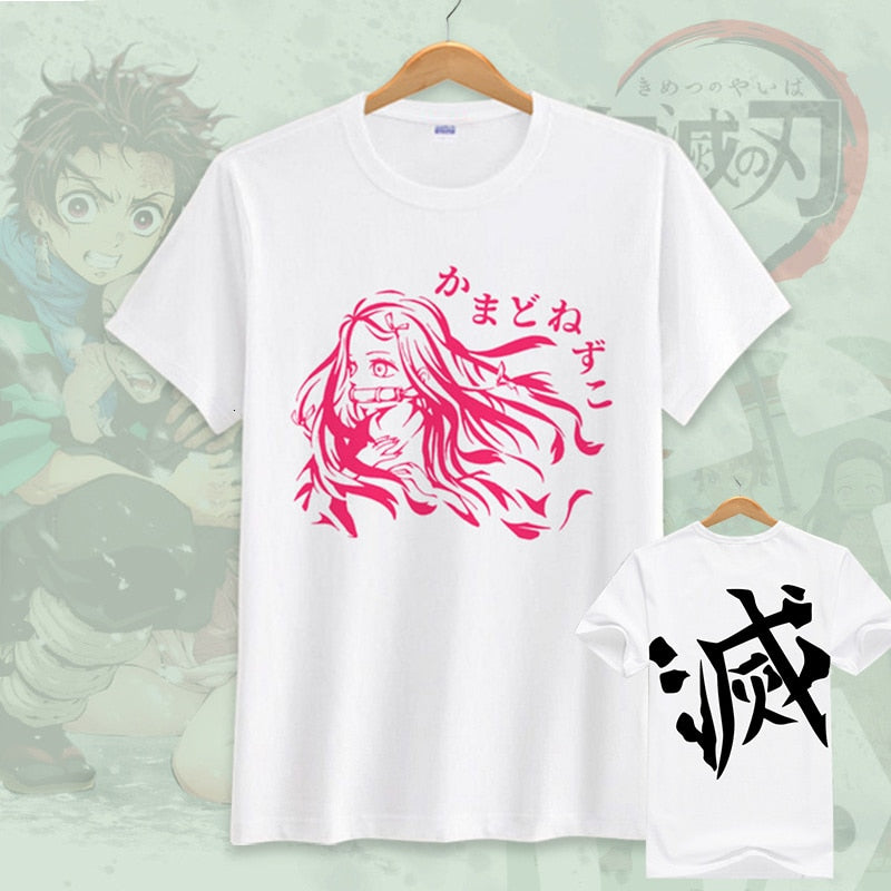 Demon Slayer Kimetsu No Yaiba Tanjiro Kamado Demon Slayer Cosplay Casual T-shirt