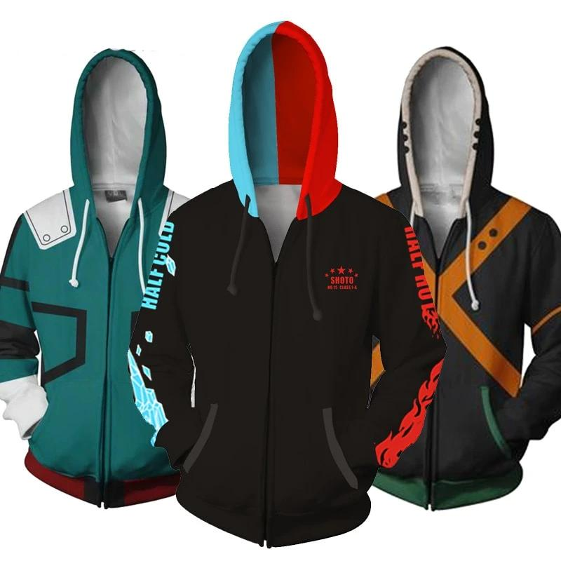 Boku No My Hero Academia Bakugou Todoroki Cosplay My Hero Academia Hoodies