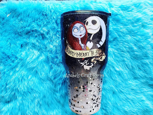 Nightmare before Christmas , Jack Skellington , Glitter Tumbler cup
