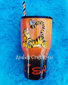 Winnie and the Pooh , Tigger Glitter Tumbler cup