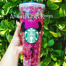 Mickey shape glitter waterfall tumbler