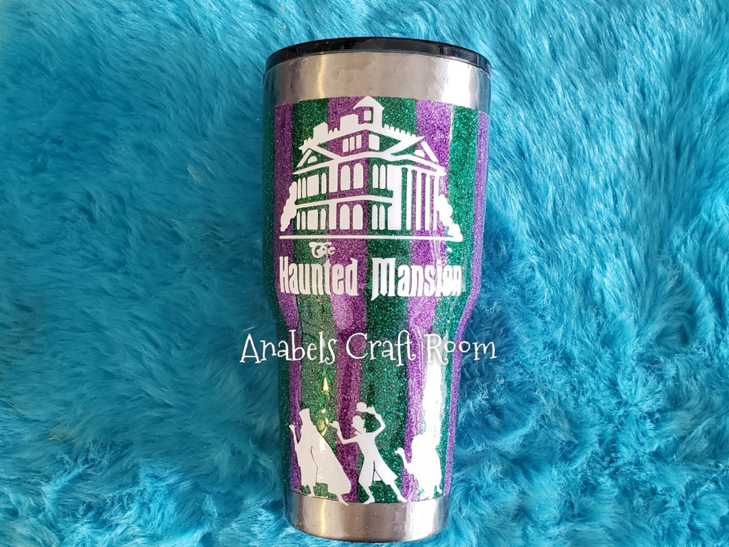 Haunted Mansion glow in the dark tumbler