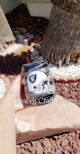 Raiders wine Tumbler