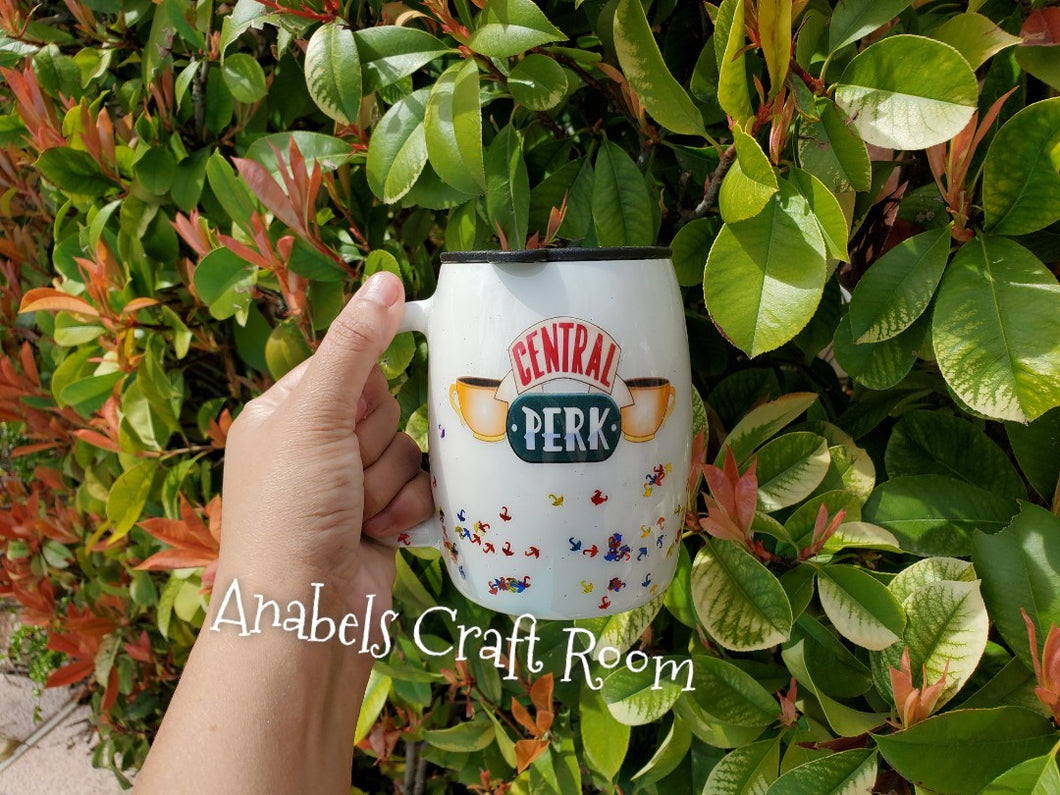 Central Perk Friends TV show glitter Tumblers