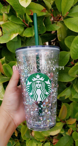 Starbucks Mickey Floating glitter