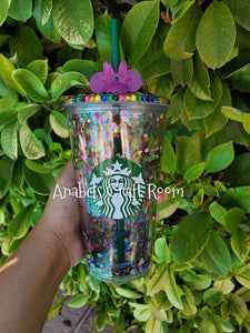 Starbucks floating Colorful mickey