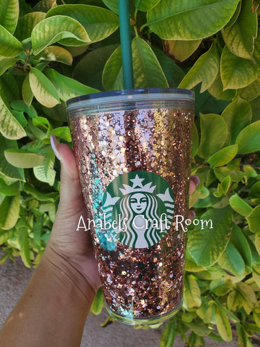 Rose gold Floating Starbucks