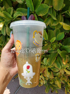 Beauty and the Beast Starbucks reusable cup