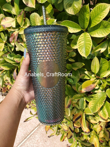 Starbucks Black Iridescent (unicorn) studded tumbler