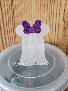 Minnie Ghost Straw topper