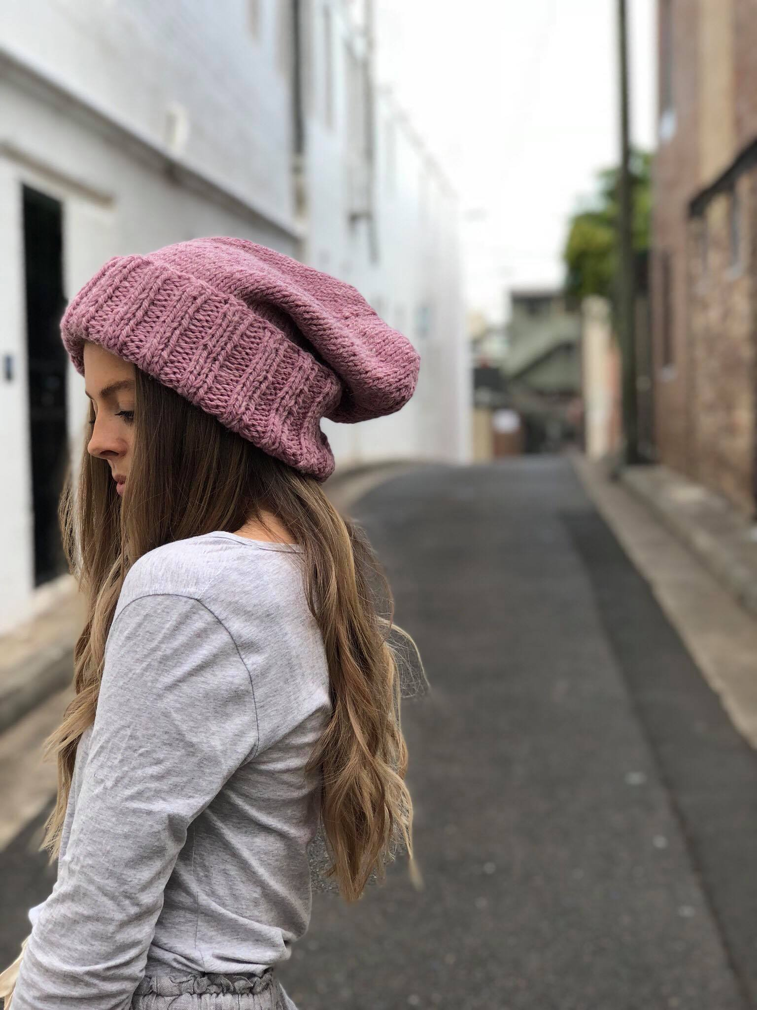 The Slouch Beanie: Pink