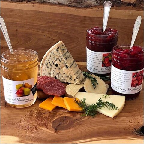 Jams and Cheese on a Charcuterie Board